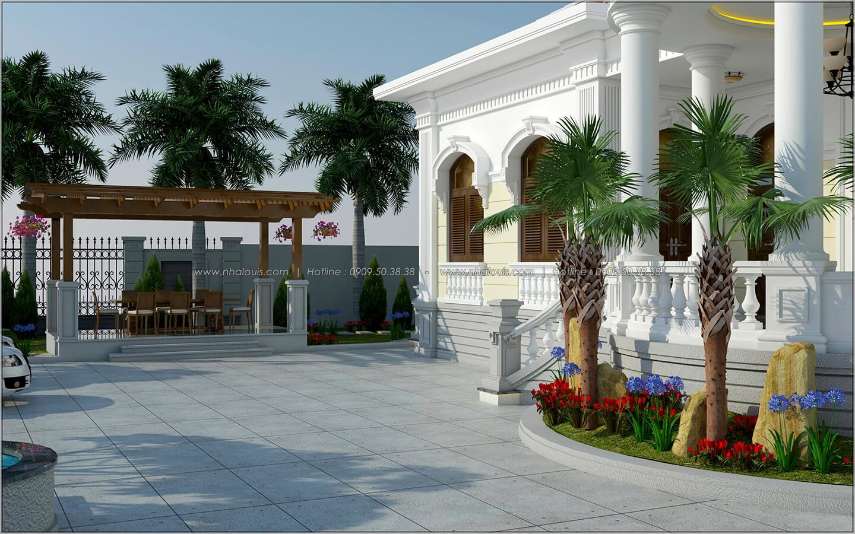 Sân trước Vẻ đẹp giản đơn của ngôi biệt thự 1 tầng 3 phòng ngủ tại xứ dừa Bến Tre - 5