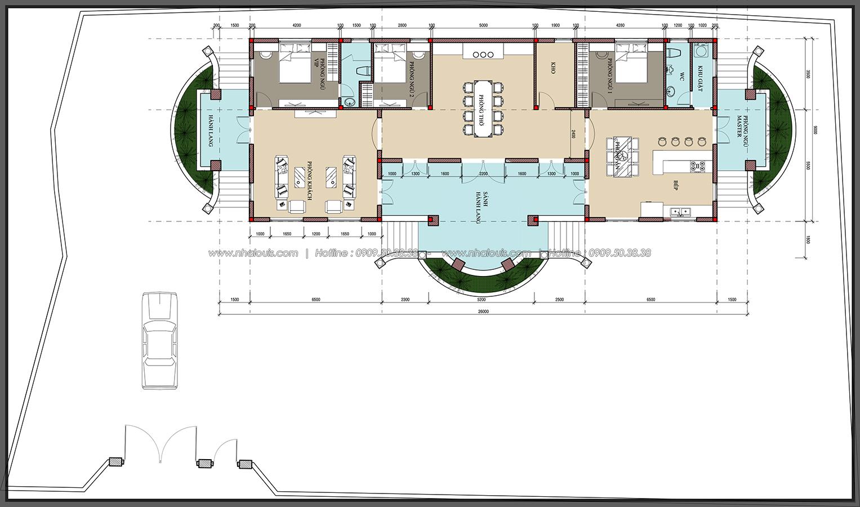 Vẻ đẹp giản đơn của ngôi biệt thự 1 tầng 3 phòng ngủ tại xứ dừa Bến Tre - 6
