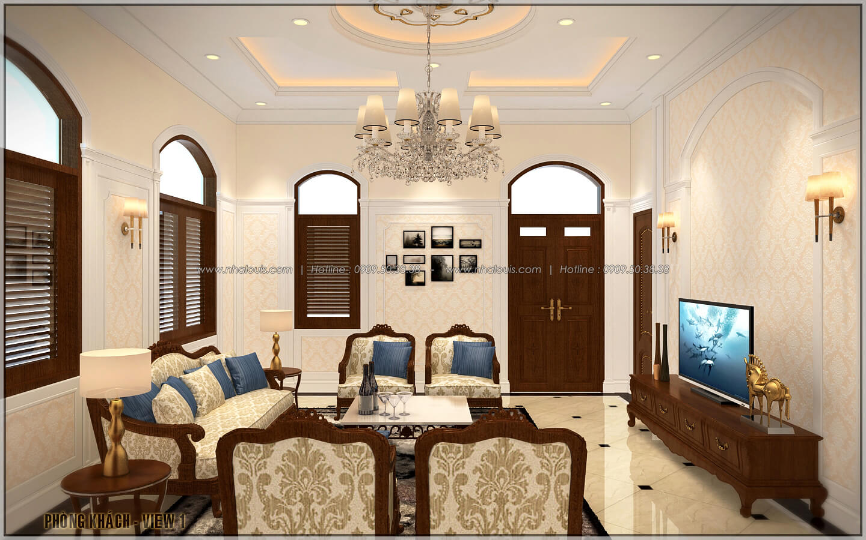 Phòng khách ngôi biệt thự 1 tầng 3 phòng ngủ tại xứ dừa Bến Tre - 7