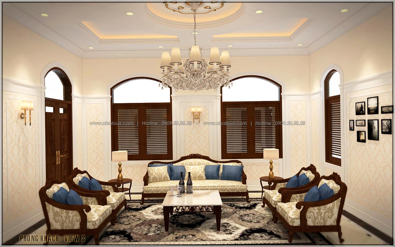 Phòng khách ngôi biệt thự 1 tầng 3 phòng ngủ tại xứ dừa Bến Tre - 8