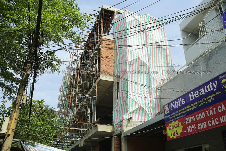 Xây tường nhà phố 2 mặt tiền tại quận 7