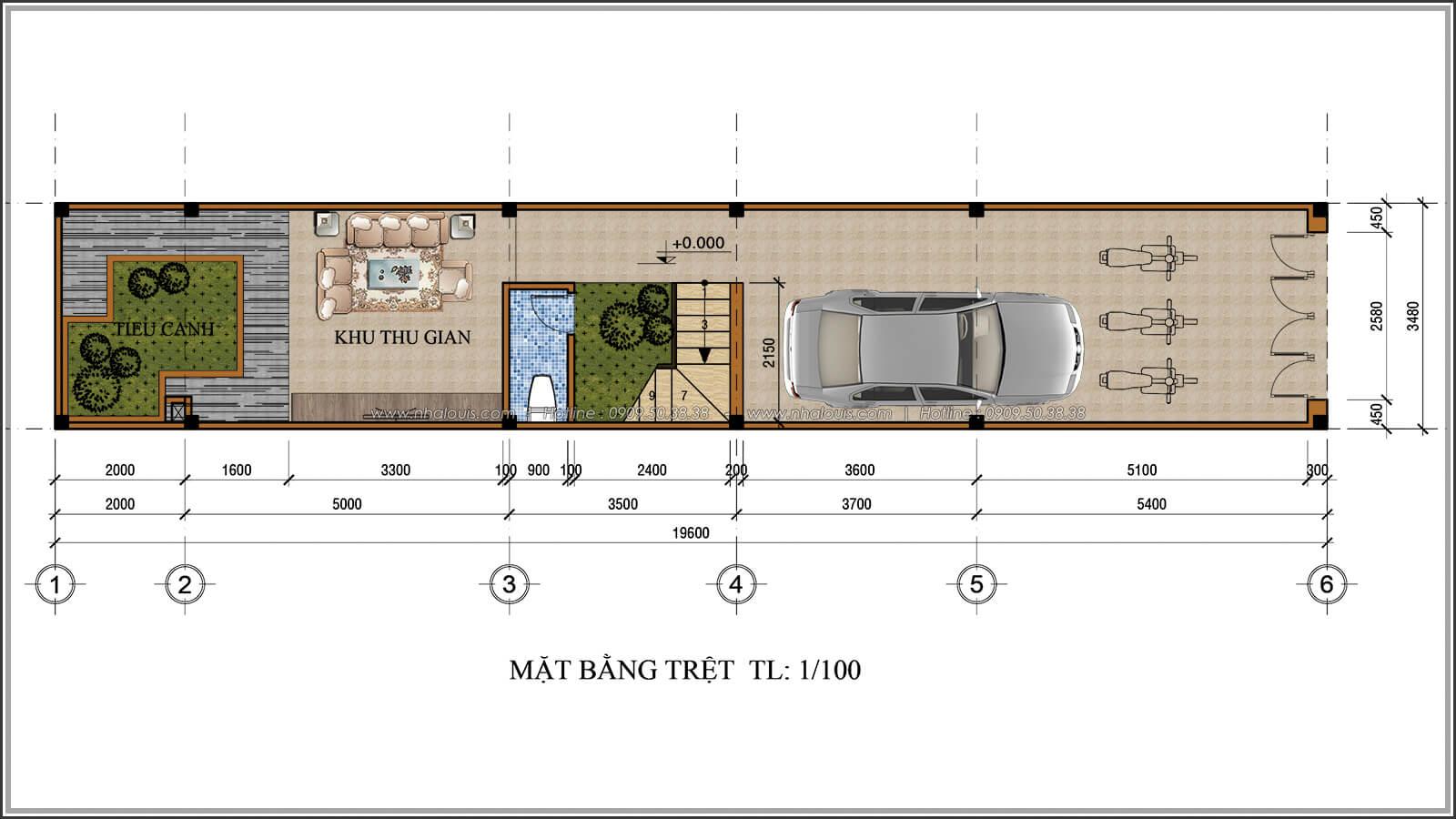 Mặt bằng tầng trệt Xiêu lòng với thiết kế nhà ống cổ điển đẹp cổ điển nhỏ mà chất tại Quận 3 - 03