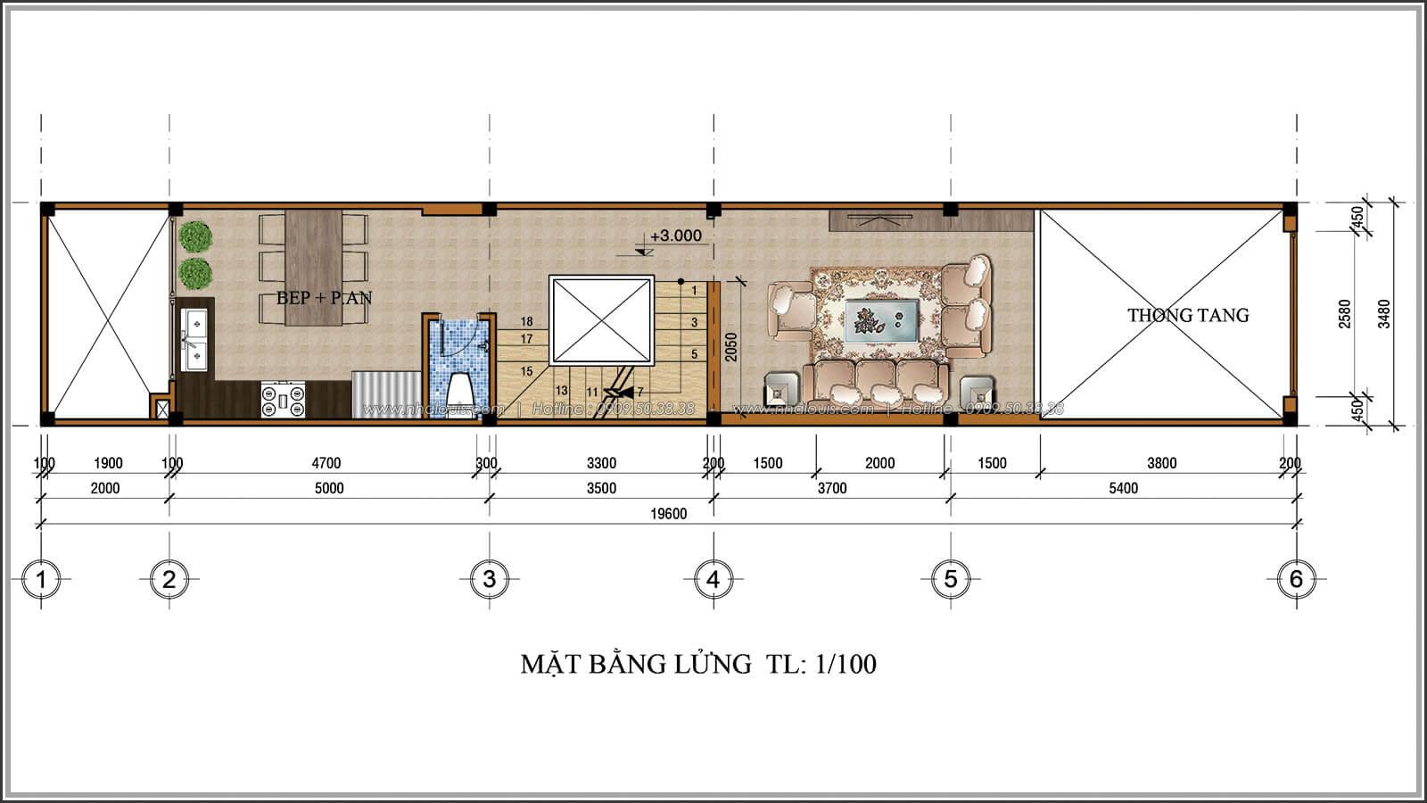 Mặt bằng tầng lửng Xiêu lòng với thiết kế nhà ống cổ điển đẹp cổ điển nhỏ mà chất tại Quận 3 - 04