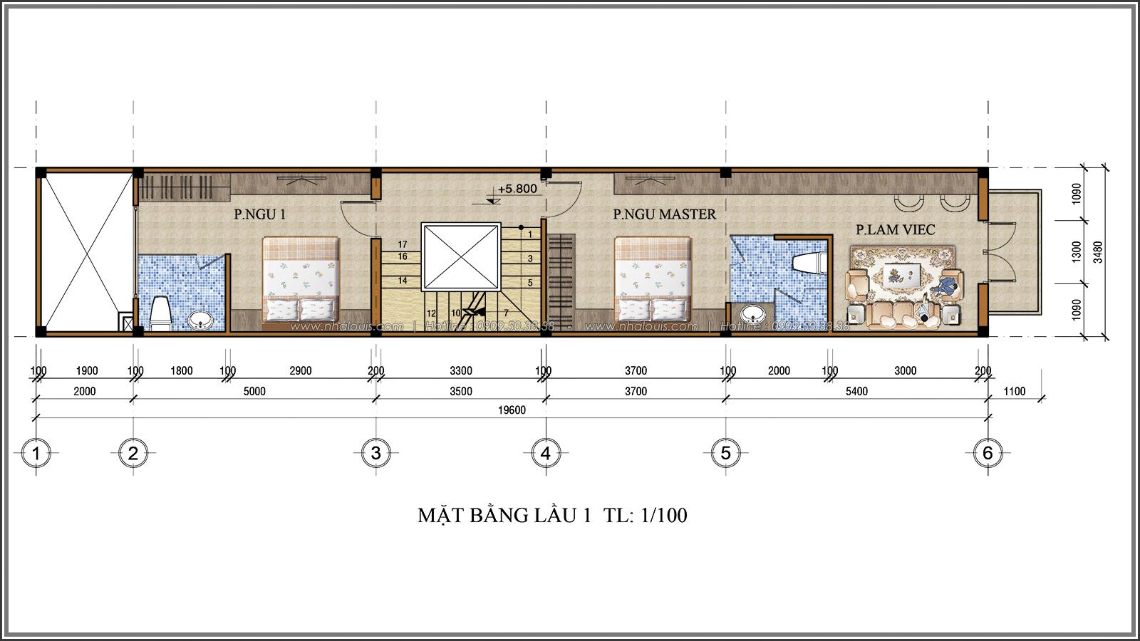Xiêu lòng với thiết kế nhà ống 3 tầng đẹp cổ điển nhỏ mà chất tại quận 3 - 05