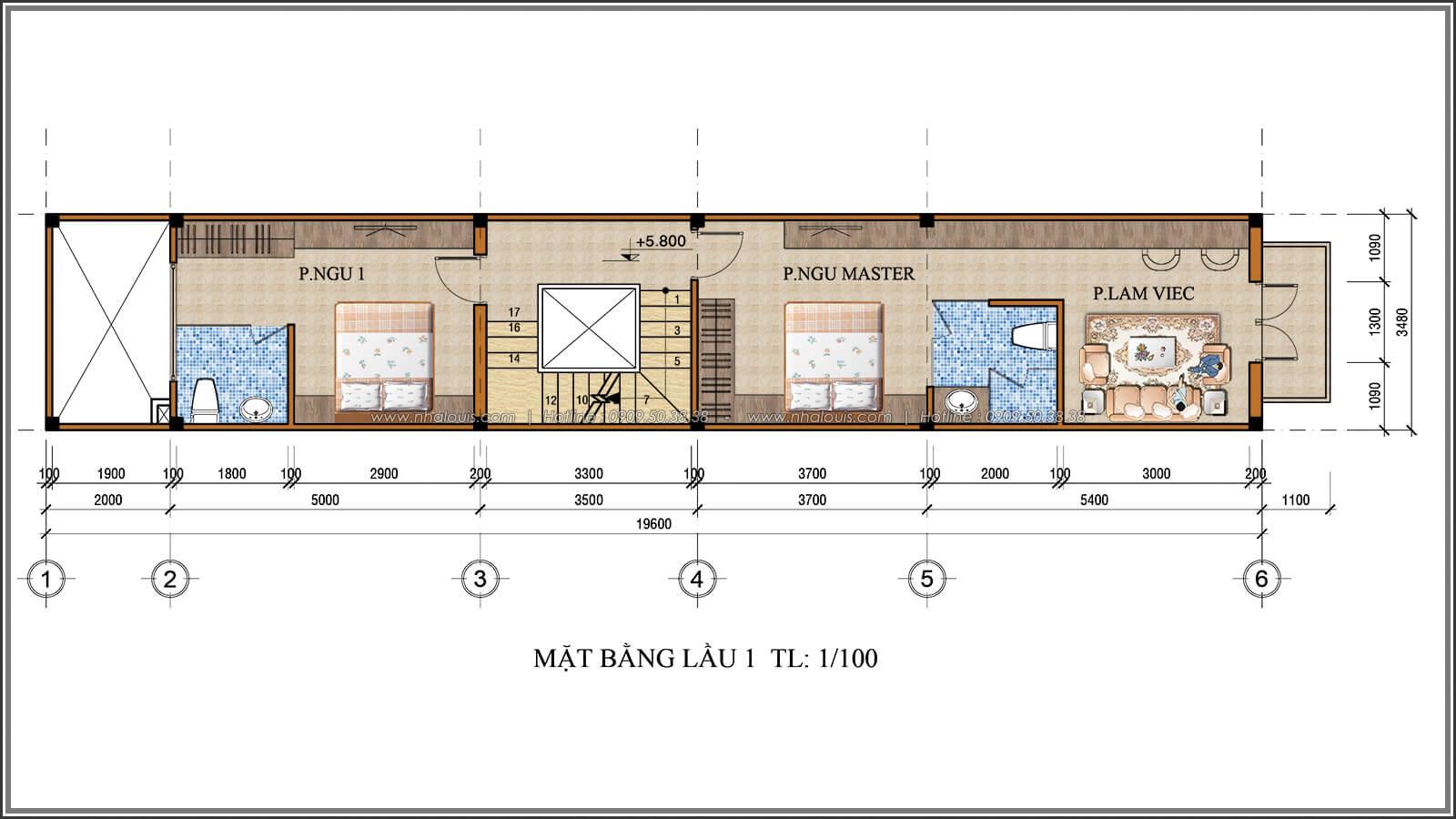 Mặt bằng lầu 1 Xiêu lòng với thiết kế nhà ống cổ điển đẹp cổ điển nhỏ mà chất tại Quận 3 - 05
