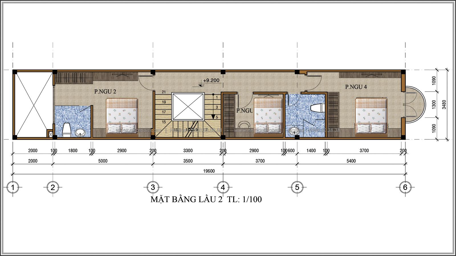 Xiêu lòng với thiết kế nhà ống 3 tầng đẹp cổ điển nhỏ mà chất tại quận 3 - 06
