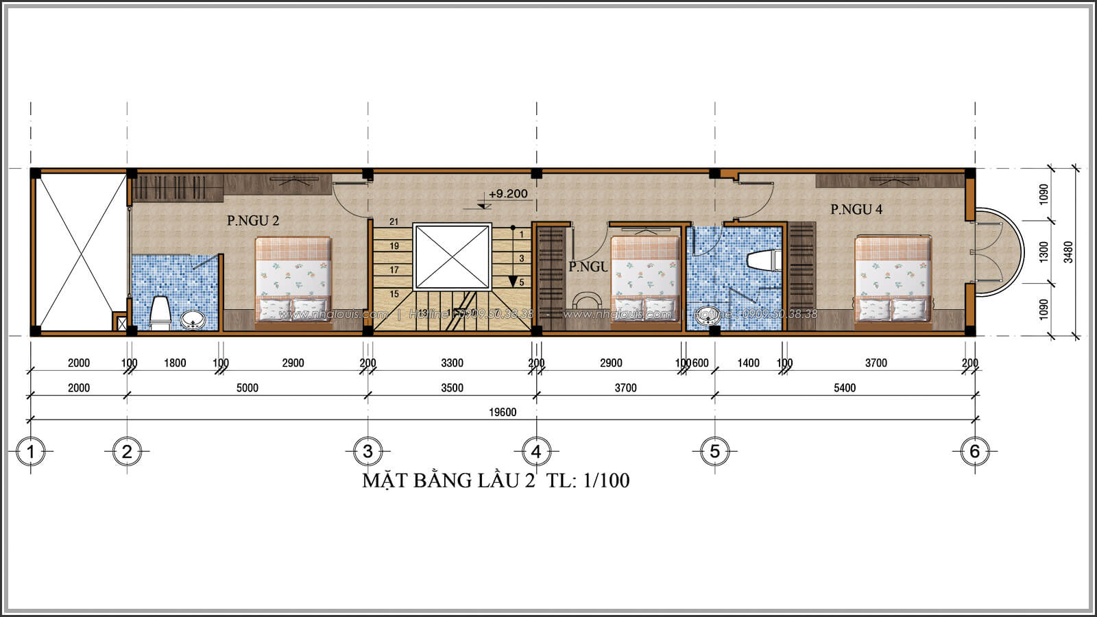 Mặt bằng lầu 2 Xiêu lòng với thiết kế nhà ống cổ điển đẹp cổ điển nhỏ mà chất tại Quận 3 - 06
