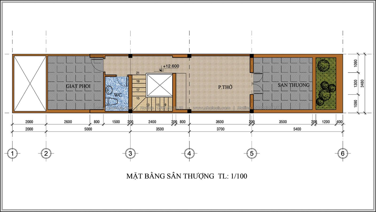 Mặt bằng sân thượng Xiêu lòng với thiết kế nhà ống cổ điển đẹp cổ điển nhỏ mà chất tại Quận 3 - 07