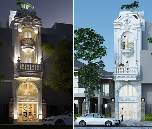 Xiêu lòng với thiết kế nhà ống 5 tầng đẹp cổ điển nhỏ mà chất tại Quận 3