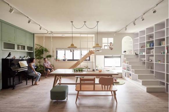 Ấn tượng với căn hộ chung cư có khu vui chơi trong nhà