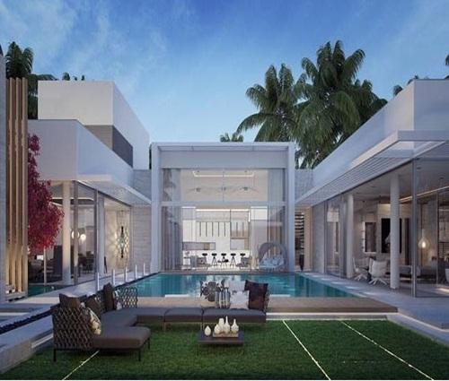 Biệt thự 1 tầng hiện đại tuyệt đẹp với sân vườn trung tâm