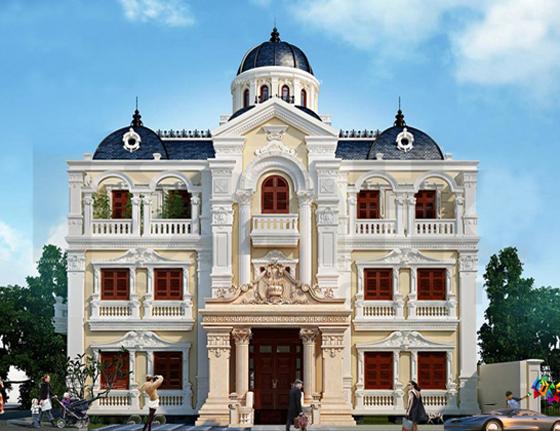 Biệt thự cổ điển 3 tầng phù hợp với thời đại