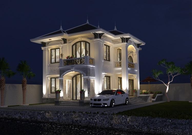 Biệt thự cổ điển lộng lẫy như cung điện tại Hà Nội
