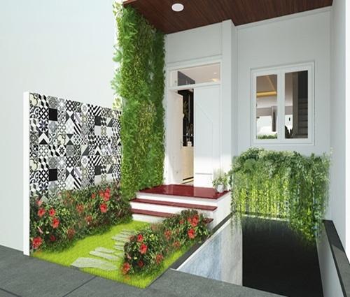 Biệt thự mini tràn ngập cây xanh ở Hà Nội