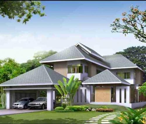 Biệt thự nhà vườn mái Thái tiện dụng