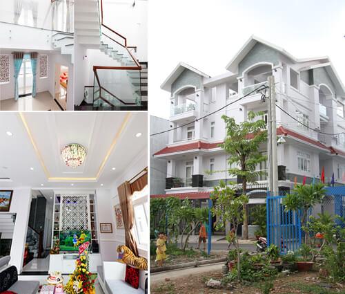 Biệt thự song lập tân cổ điển 4 tầng tại Tân Phú sang trọng