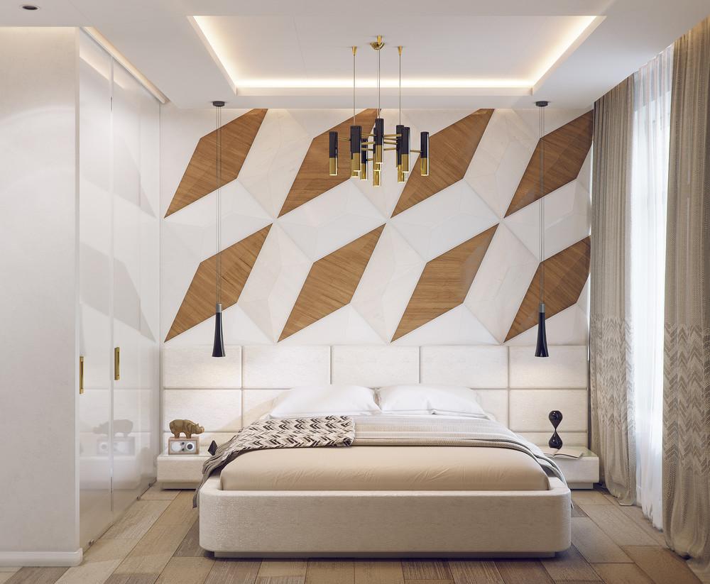 Cá tính với những bức tường trong phòng ngủ