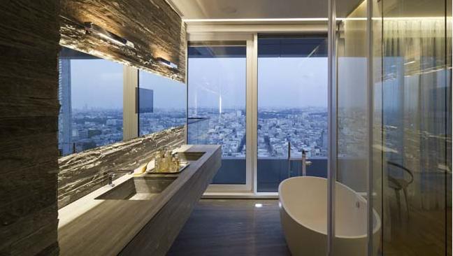 Cận cảnh vẻ đẹp của căn hộ chung cư có trần phản chiếu