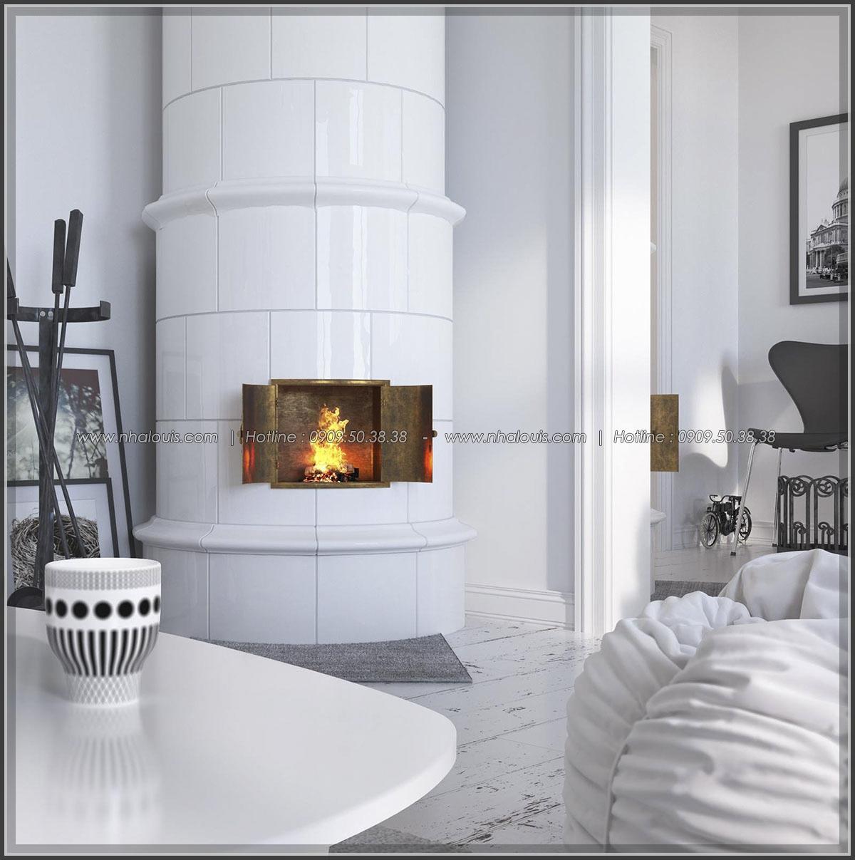 Căn hộ 1 phòng ngủ với cảm hứng nội thất Scandinavian