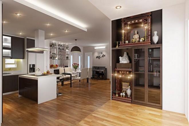 Căn hộ chung cư 140m2 có 2 phòng ngủ