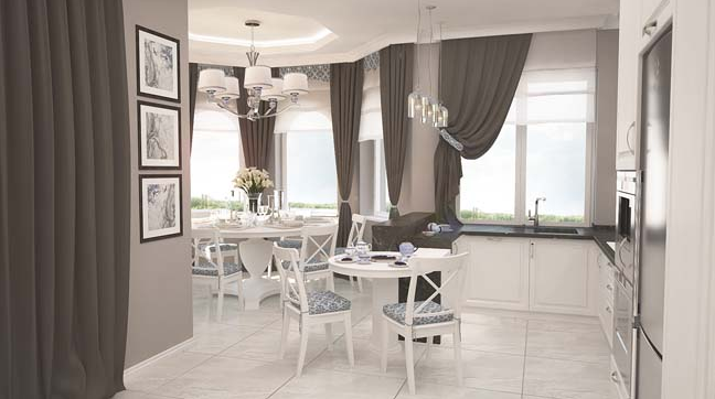 Căn hộ chung cư 65 m2 lộng lẫy trong phong cách cổ điển