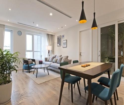 Căn hộ chung cư 71 m2 mang vẻ nhẹ nhàng, thanh lịch