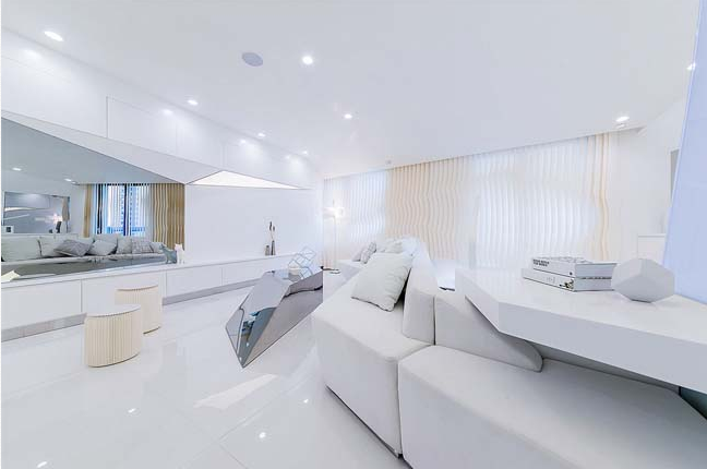 Căn hộ chung cư cao cấp lấy cảm hứng từ kim cương