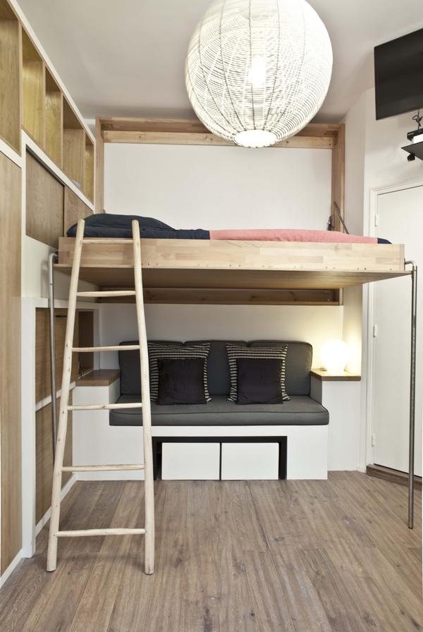 Căn hộ chung cư chỉ 18m2 nhưng tiện nghi không tưởng