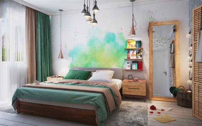Căn hộ chung cư mang màu sắc rực rỡ cho vợ chồng trẻ