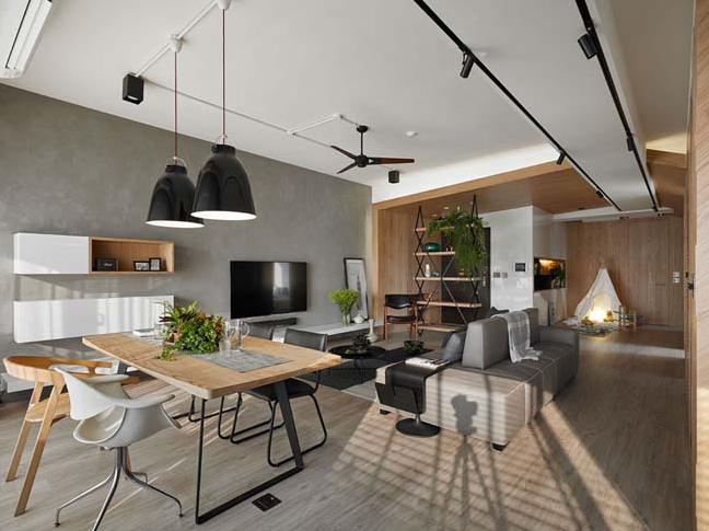 Căn hộ chung cư rộng rãi với không gian mở
