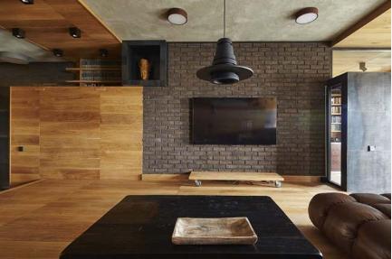 Căn hộ chung cư sử dụng chất liệu gỗ ấm áp