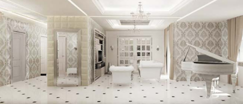 Căn hộ penthouse đẹp lộng lẫy trong phong cách cổ điển