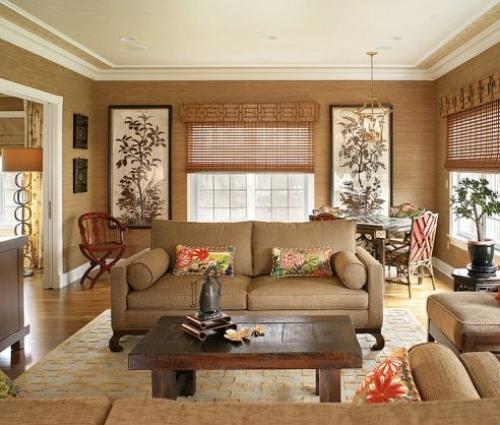 Chiêm ngưỡng phong cách Grasscloth dành cho phòng khách