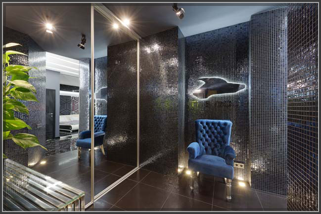 Chìm đắm trong căn hộ chung cư đẹp cao cấp với hiệu ứng đèn và màu sắc độc đáo