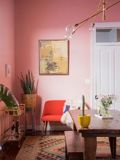 Điểm màu hồng cho không gian thêm lãng mạn ngọt ngào