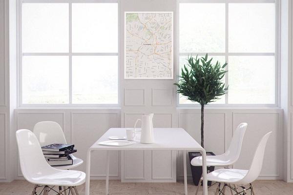 Độc đáo ý tưởng trang trí nhà bằng bản đồ