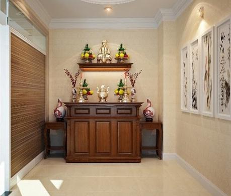 Gợi ý mẫu phòng thờ đẹp cho gia đình có không gian nhỏ