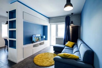 Hút mắt với căn hộ màu xanh dương