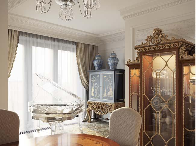 Khám phá bên trong căn biệt thự cổ điển có nội thất sang trọng