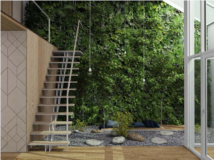 Lạc vào thế giới rừng xanh trong mẫu ngôi nhà phố 2 tầng - 05