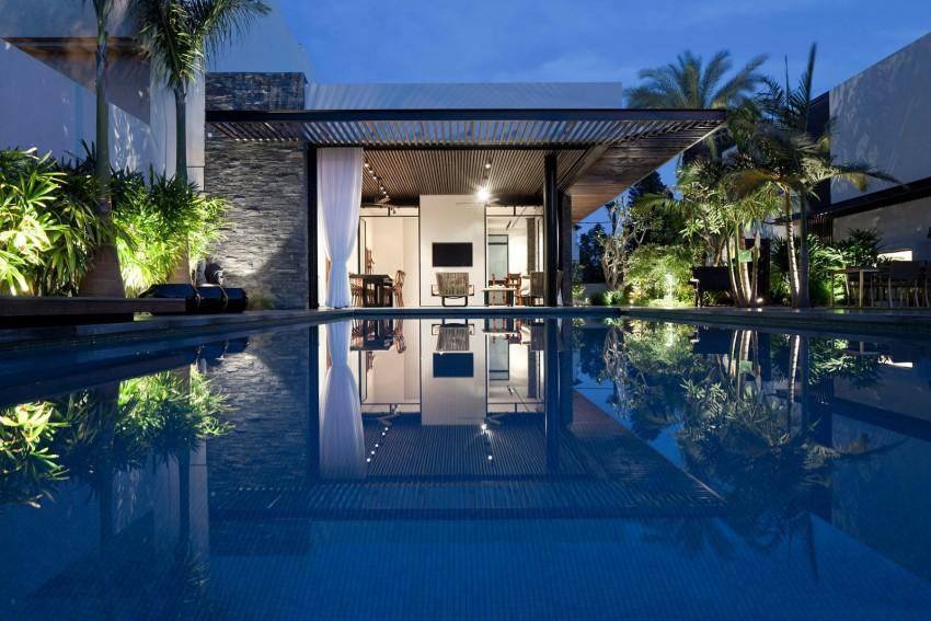 Mẫu biệt thự nhà vườn có bể bơi tuyệt đẹp
