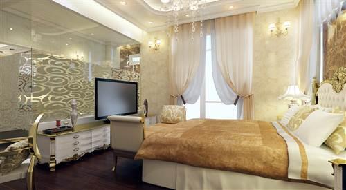 Mẫu nhà đẹp cổ điển có thiết kế phòng thay đồ riêng