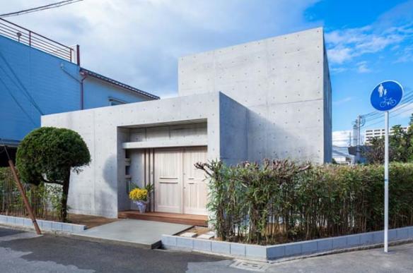 Mẫu thiết kế nhà trệt kiến trúc bê tông khác lạ và tinh tế - 01
