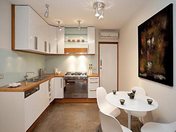 Mẫu phòng bếp đẹp dành cho nhà ống