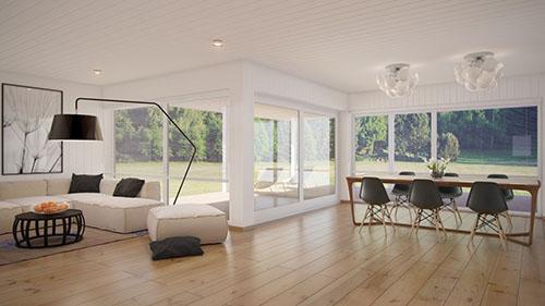 Mẫu phòng khách đẹp có không gian mở