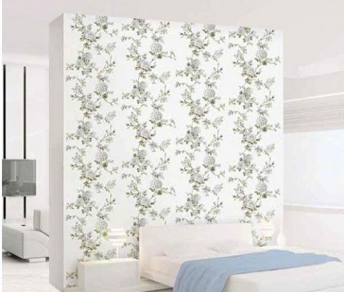 Mẫu phòng ngủ đẹp với giấy dán tường ấn tượng