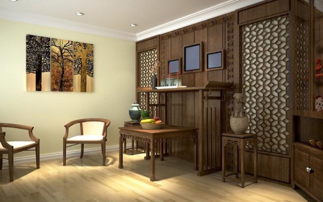Mẫu thiết kế nội thất phòng thờ đẹp