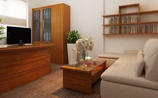 Mẫu văn phòng nội thất gỗ đẹp sang trọng và đẳng cấp - 03