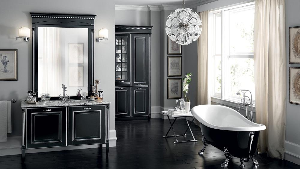 Mẫu WC đẹp chỉ sử dụng 2 màu đen trắng