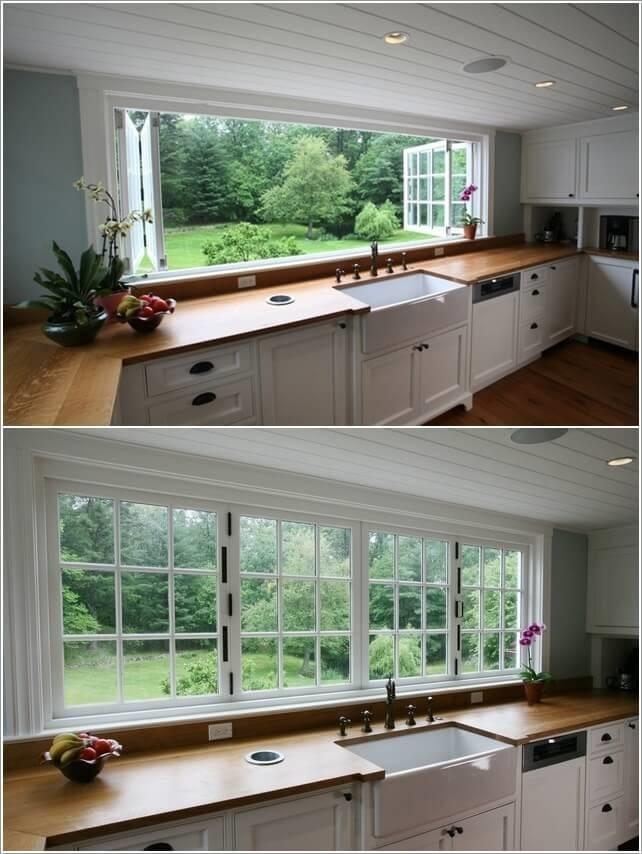 Muôn vàn cách thiết kế cửa sổ cho phòng bếp đẹp